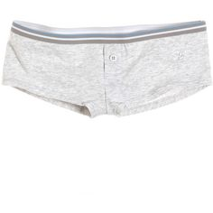 aerie cheeky - Light Heather Grey ($3.95) ❤ liked on Polyvore featuring intimates, panties, underwear, undies, shorts, bottoms, bottoms- shorts, clothing & accessories  clothing  sleepwear, aerie panties and aerie panty