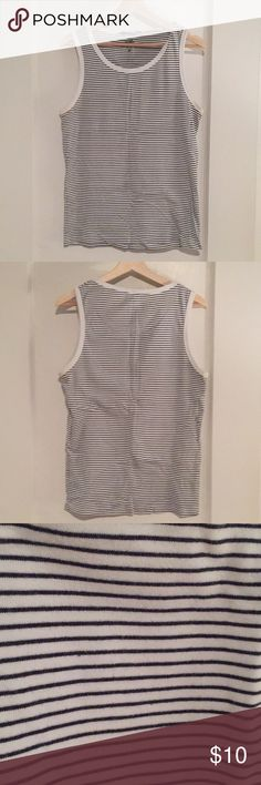 Striped tank top. Striped tank top. Black and white with white trim. 100% cotton. Size large but fits like a medium. H&M Shirts Tank Tops