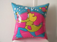 vintage 70s PETER MAX Psychedelic Inflatable ART Throw by cammoo