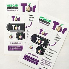 Check out these awesome webcam covers / webcam blockers for the @torproject! . . #security #webcam #webcamcovers #safety #securitycamera #cybersecurity #stickers #marketing #branding