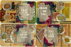 Altered Rolodex Card Journal: Safety Dance Series
