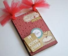 "Pinky shares this adorable ""Cute Little Chef"" Recipe Mini Album using the Clear Scraps- Creating Made Easy Kit Club Kit from September 2014! http://www.clearscraps.com/category_s/83.htm"