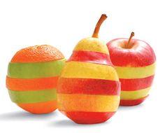 Fun Food Kids mixed up fruits obst pears birnen apfel apples äpfel orangen snack healty gesund bunt colourful