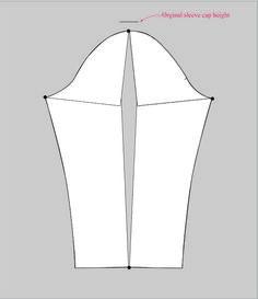 sleeve adjustment spread the pattern - ärmel weiter machen