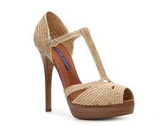 Ralph Lauren Collection Jedina Raffia Peep Toe Sandal Luxe810 - DSW