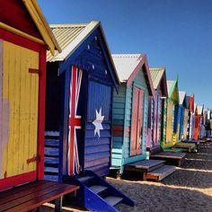 The colourful beachboxes at Brighton Beach Near #Melbourne #Australia  by isle143 (instagram)