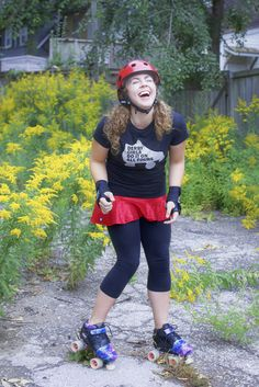 Lindsay Roller Derby came to model our stuff... they nailed it!!