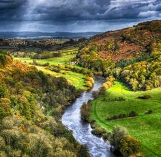 The River Wye snakes across the Herefordshire landscape near Ross-on-Wye.