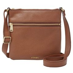 Fossil 'Mini Piper' Crossbody Bag ($98) ❤ liked on Polyvore featuring bags, handbags, shoulder bags, brown, brown purse, brown handbags, crossbody handbags, fossil shoulder bags and fossil crossbody