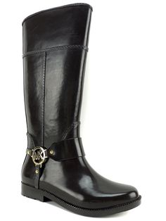 Michael Kors Women's Fulton Harness Rain Boots Coffee Rubber Size 6 (B, M) #MichaelKors #Rainboots #Rainboots
