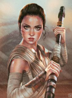 Rey by serafleur. #StarWars #Art #gosstudio .★ We recommend Gift Shop: http://www.zazzle.com/vintagestylestudio ★