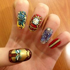 nail art: iron man nails by celebrity artist grace humphries
