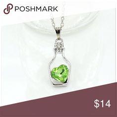 🎁 2 for $16 - Heart in a Bottle necklace Green heart in a bottle necklace. Brand new Jewelry Necklaces