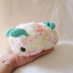 Baby sea slug crochet pattern