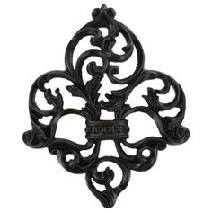 Black & Red Open Fleur-De-Lis Wall Plaque | Shop Hobby Lobby