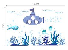 Walplus Mural Decal papier Art décoration mer Super Ocean World poisson enfants chambre enfants sous - marin Stickers muraux