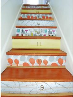 91 Best Stair Risers Decorating Ideas Images Stairs Diy Ideas For