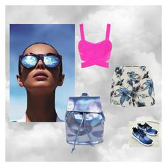 """""""colorgalaxy"""" by anjakielb on Polyvore featuring Le Specs, Posh Girl, NIKE and ONLY"""