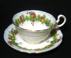 beautiful tea cups and saucers | Art Deco Aynsley Floral Tea Cup and Saucer - Vintage Beauty!