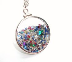 Shake Locket Collection  Glass Locket Filled by TheEboutique, $65.00
