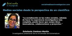 Charla con Estefanía Jiménez-Martín sobre los medios sociales desde la perspectiva de un científico. #RedesSocialesCientíficas #Herramientas20 #SocialMedia