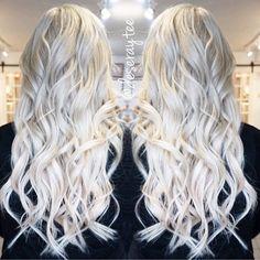 White platinum blonde hair by Josie Vilayvanh. Blonde bombshell platinum white hair fb.com/hotbeautymagazine
