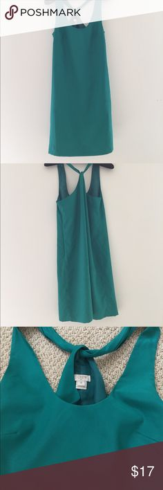 Jcrew dress Criss cross back dress. Beautiful on! Teal color. Only worn once. No stains or flaws. Runs big. From the factory store J. Crew Dresses