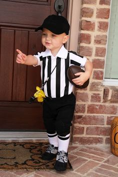 baby referee Halloween costume!