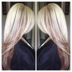 This is so beautiful and as much as I know I need to stay with my natural Brown, blond is just who I am! Love Hair, Great Hair, Gorgeous Hair, Balayage Blond, Blonde Peekaboos, Icy Blonde, Moda Do Momento, Hair Color And Cut, Hair Affair