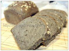 Echo's Kitchen: Black Sesame Oatmeal Rice Bread