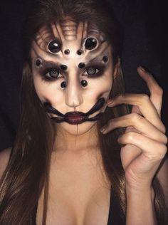 arachnid face paint | arachnid, body paint, eyes, face paint, halloween, makeup, makeup ...