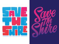 Save The Shire Type by Nick Slater