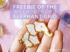 Freebie of the week: Beaded Elephant Origami Grid - Petit Bout de Chou