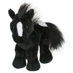 Ganz Webkinz are plush pets that kids love and adore. Each Webkinz plush comes with a Secret Code. With the Secret Code, you can enter Webkinz World where you can adopt your new pet, care for your virtual pet, answer trivia, and play games. Webkinz Stuffed Animals, Cute Stuffed Animals, Plush Horse, Virtual Pet, Friesian Horse, Fabric Toys, Build A Bear, Animal Pillows, Your Pet