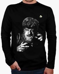 Camiseta Halloween · Hombre lobo Camiseta hombre manga larga  19,90 € - ¡Envío…