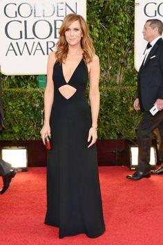Kristen Wiig in sexy, cutout Michael Kors, Golden Globes 2013
