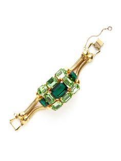House of Lavande Green Crystal Cluster Bracelet