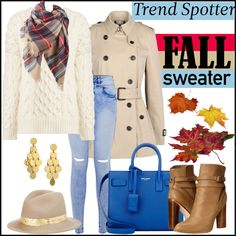 Trending: Cable Knit Sweater & Red Plaid Scarf by hastypudding on Polyvore featuring polyvore, fashion, style, Joseph, Burberry, Cynthia Vincent, Yves Saint Laurent, Stephanie Kantis, Eugenia Kim and trending
