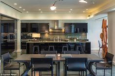 Kitchen confidential: A state of the art kitchen comes complete with brand new appliances and marble countertops