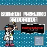 Behavior Reflection- Primary Grades - Pictures to Help Cue Students