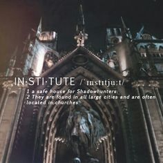 Institute The mortal instruments