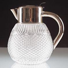 Vintage Kalte Ente Krug Kanne Karaffe Kristall Glas 3 Liter 2,4 Kg Glaskrug U40