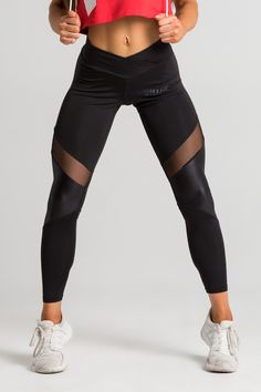 9bcc8e0005 Brick City Villin Mesh Tights - Black. Mesh Panel LeggingsBody ...