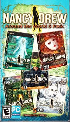 Nancy Drew Around the World 5 Pack: Danger By Design / Creature Of Kapu Cave / White Wolf Of Icicle Creek / Phantom Of Venice / Haunting Of Castle Malloy Encore http://www.amazon.com/dp/B00CMCI218/ref=cm_sw_r_pi_dp_LsBhwb1DG9PTS
