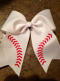 Softball/Baseball Bow 3Grosgain with 5 Tails with by BowsbyBarb, $13.00