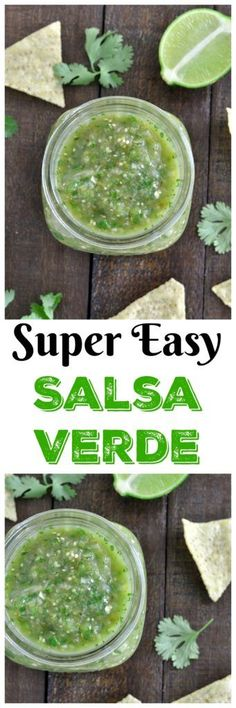This fresh and healthy salsa verde recipe is a must make for summer. Vegan, gluten free and paleo. Makes a great dip or marinade!