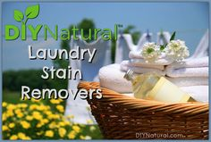 These 5 natural homemade stain remover solutions, made easily using just a few natural household ingredients, help you fight common laundry stains naturally.