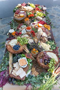 19 Biggest Wedding Trends to Bookmark in 2020 grazing food tables, diy wedding food station. Party Platters, Party Food Buffet, Food Platters, Cheese Platters, Wedding Appetizer Table, Cheese Table Wedding, Wedding Buffet Food, Party Appetizers, Antipasto