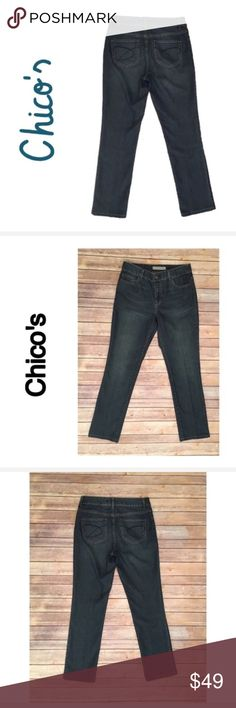"Chico's Platinum Slim Leg Skinny Ultimate Jeans 6 Chico's Platinum Slim Leg Skinny Ultimate Fit Denim Jeans Size 6   ▫️Waist 15.5"" ▫️Rise 9.5"" ▫️Inseam 29""  ▫️No stains ▫️No holes  🛍For the best deal, I offer a bundle discount! Please check out my closet for other fabulous items!🛍 Chico's Jeans Skinny"