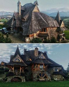 A witch house 🏡 wooden cottage , Tatra mountains , Poland 🇵🇱 Model Architecture, Architecture Design Concept, Beautiful Architecture, Beautiful Buildings, Beautiful Homes, Beautiful Places, Unusual Buildings, Victorian Architecture, Interior Architecture